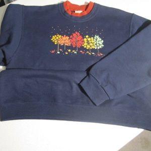 Beautiful navy blue fall sweatshirt